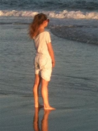 At the beach in the Hamptons, Fall 2011