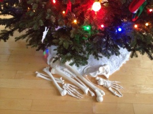 Bones under the Christmas tree