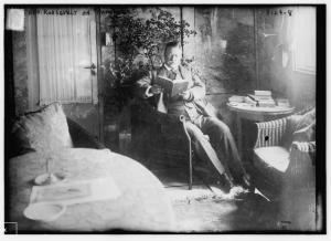 Theodore Roosevelt reading